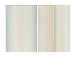 White Triptych, oil on canvas, 30 x 20 (1) 30 x 10 (2)